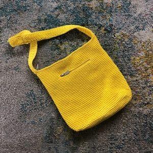 The Sak cardinal yellow knit bag